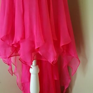 Cache Dresses - Cache 10 NWT New Neon Pink Prom Dress Gown